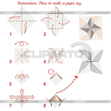 How To Make Paper Toys Step By Step - origami for serie of high quality graphics cliparto