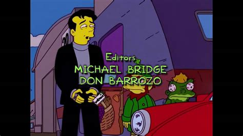 2001 ending song the simpsons treehouse of horror end credits 2001