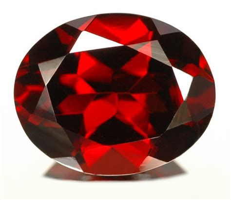 red gem almandine garnet natural gemstone jewelry information