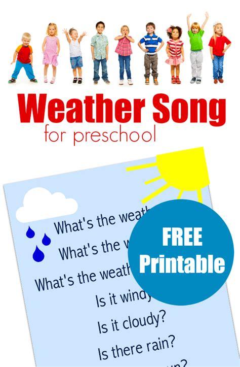 song preschool preschool weather song free printable lyrics no time