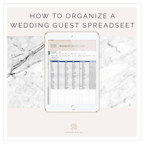 1000 ideas about wedding spreadsheet on guest - How To Make A Wedding Guest Spreadsheet
