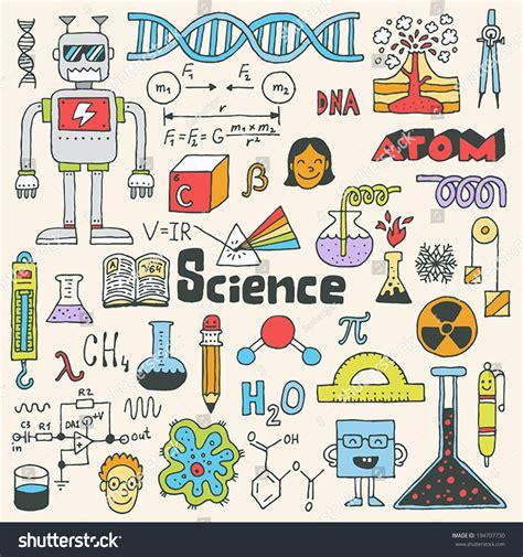 doodle science school science doodle set 2 stock vector 194707730