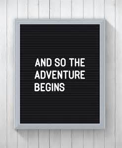letter board quote print and so the adventure begins