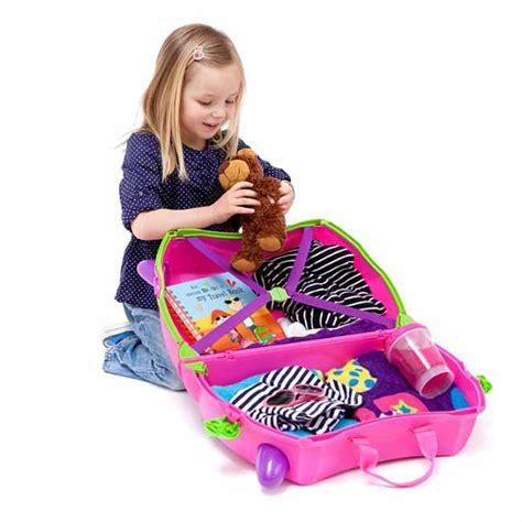 trunki kids suitcase trixie pink