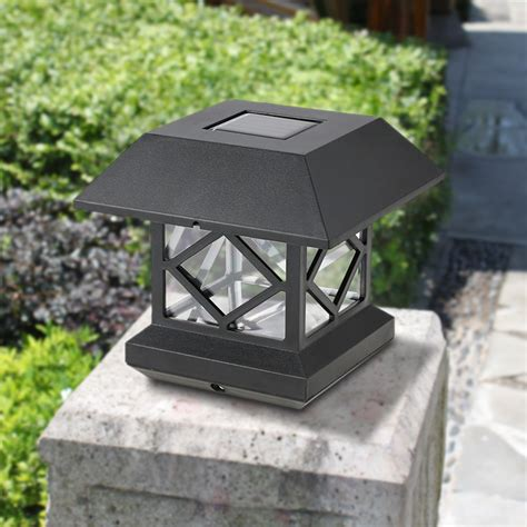 Solar Powered Outdoor Light Fixtures Ip65 Water Resistant Outdoor Solar Powered Light Sensor Led Wall Pillar Chapiter Post L For