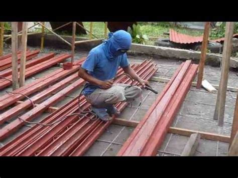 Frame House Plans joining and welding c purlins 9 19 12 youtube