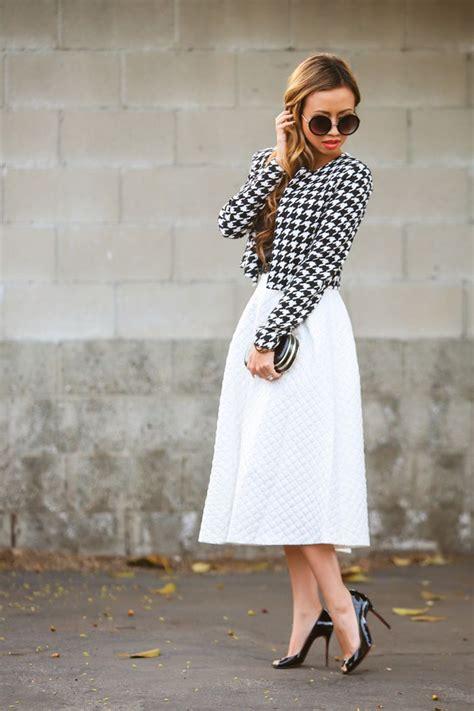 Midi Dress Houndstooth W7274udi D fashion fashion topshop midi skirt