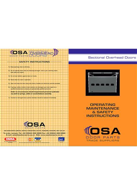 overhead door maintenance maintenance safety for sectional overhead doors 187 osa