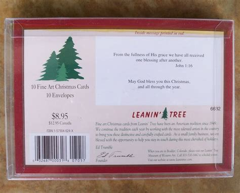 leanin tree boxed cards boxed cards footprints leanin tree 10 cards