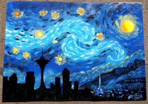 9 geeky variations of a starry night by van gogh epic 1000 images about variations on starry night on pinterest