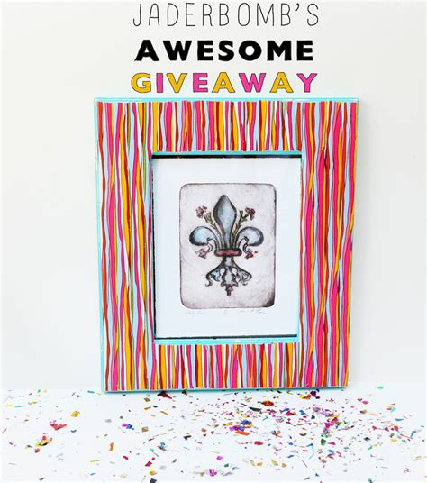 Ducks Giveaways - duck tape frame tutorial and giveaway jaderbomb