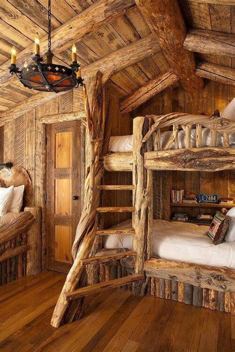 Log Cabin Bunk Beds Log Cabin Ideas Pinterest Cabin Bunk Beds For