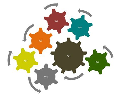Powerpoint Diagram With Animated Rotating Gears Animated Gears Powerpoint