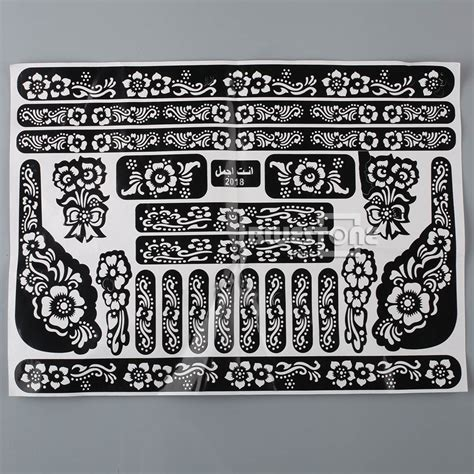 henna tattoo stickers henna mehndi stencils indian wedding