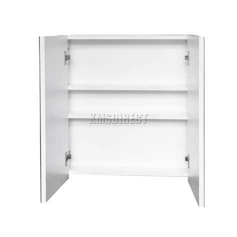 Bathroom Mirror Unit Foxhunter Wall Mount Mirror Bathroom Cabinet Unit Storage Cupboard W Shelf White