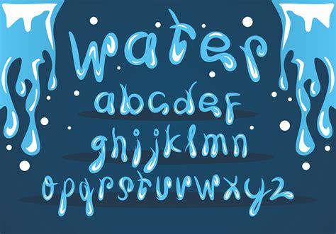 ice water font vector set   vectors clipart