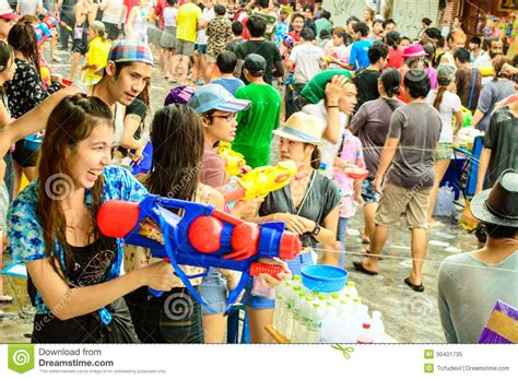 new year 15 day traditions celebrating the traditional songkran day editorial