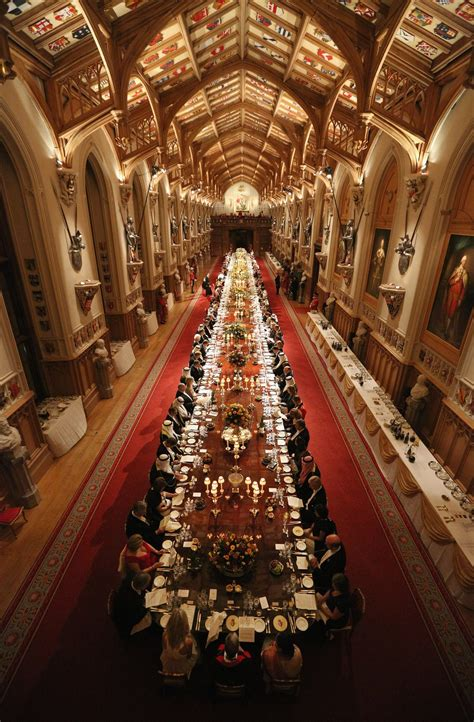 st georges hall windsor castle state banquet