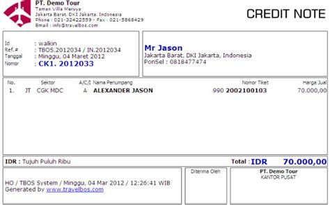 Contoh Noten by Contoh Credit Note Gecce Tackletarts Co