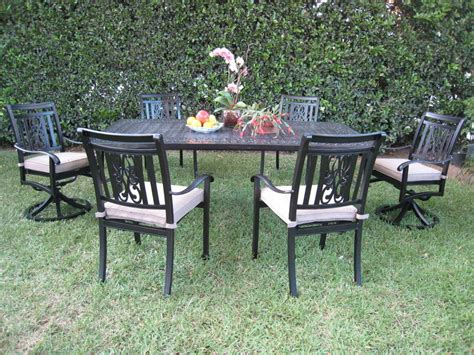 Cast Aluminum Outdoor Patio Furniture Dining Set A With 2 Patio Set With Swivel Chairs