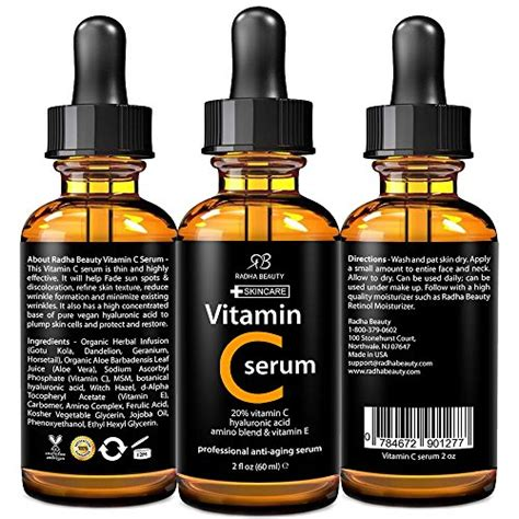 Serum Probeauty radha serum for youthful skin and 2 fl oz vitamin c fitness store