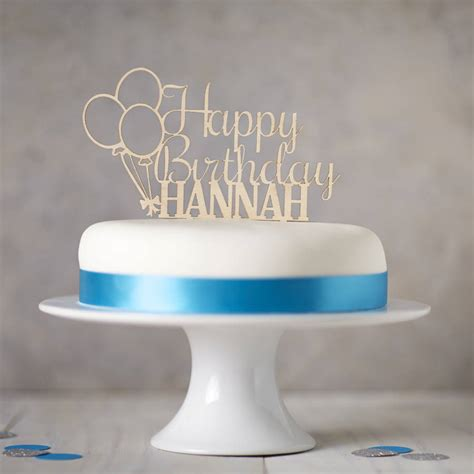 Birthday Cake Toppers by Personalised Wooden Birthday Cake Topper By
