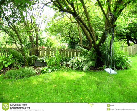Picture Of Backyard by Backyard Swing Stock Photography Image 868962