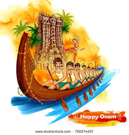drawing of boat race in kerala illustration meenakshi temple backdrop snakeboat race