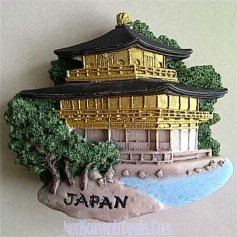 Souvenir Japan Tempelan Magnet Untuk Oleh2 jual souvenir magnet kulkas golden temple jepang
