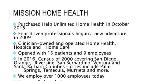 why mission home health notes