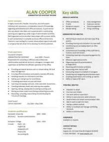 administrative assistant resume templates administration cv template free administrative cvs