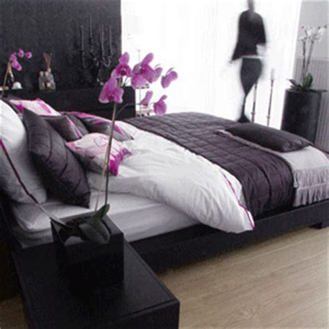 purple black and white bedroom how do i love thee purple