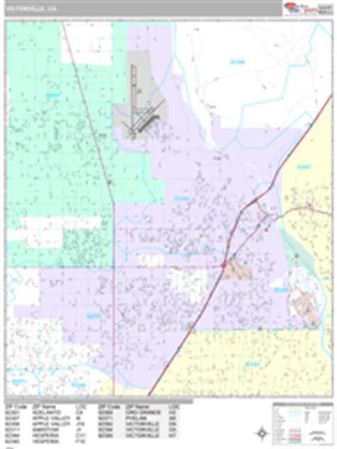 zip code map victorville ca victorville california zip code wall map premium style
