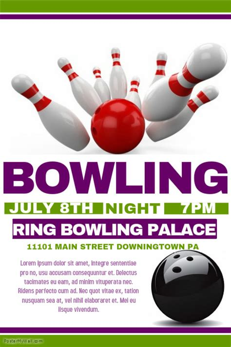 bowling flyer template bowling flyer template postermywall
