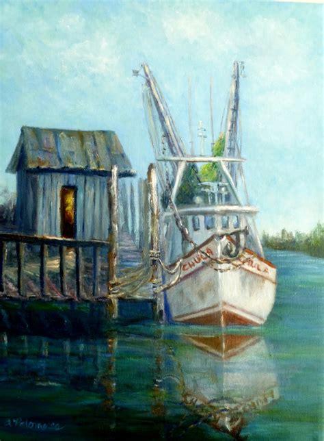 shrimp boat art shrimp boat paintings bing images