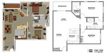 Two Bedroom Two Bath Floor Plans by 2 Bedroom 1 Bath Apartment Floor Plans 2 Bed One Bath