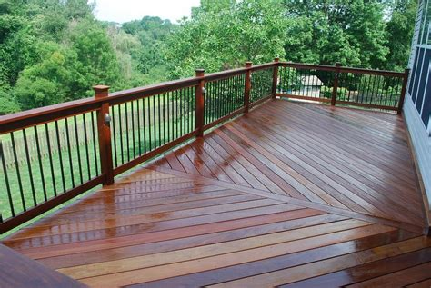 Patio Deck Railing Designs Metal Porch Railing Ipe Deck And Railing With Aluminum Balusters And Lighting Hardwood