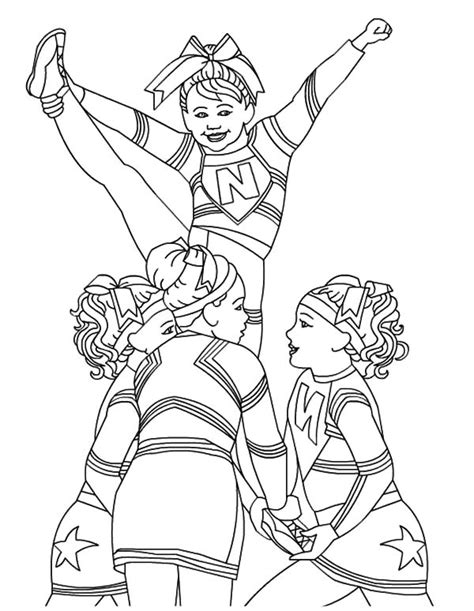 bratz girl cheerleader coloring page free to print