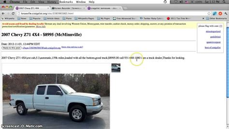 craigslist knoxville tn  cars  sale  owner cheap vehicles    tennessee