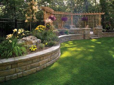backyard retaining wall designs bayfield retaining wall by basalite other metro by