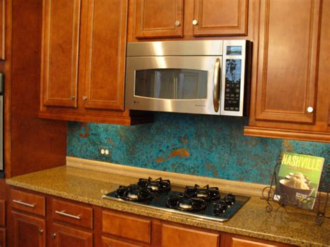 copper backsplashes for kitchens rustic kitchen azul copper kitchen backsplash rustic tile nashville