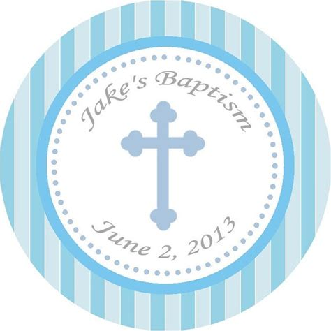 printable baptism stickers blue cross thank you tag buy 2 get 1 free by