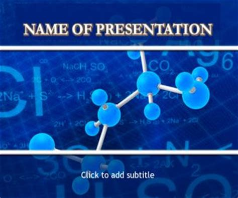 New 2016 Medicinal Chemistry Powerpoint Template Free Download Chemistry Template Powerpoint Free