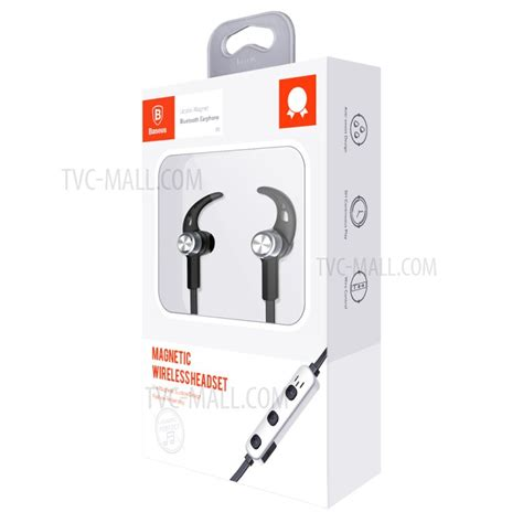 baseus b11 licolor magnet bluetooth earphone with line in