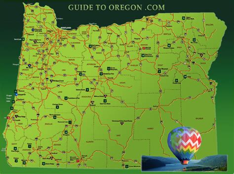 interactive map of oregon guide to oregon the seven regions