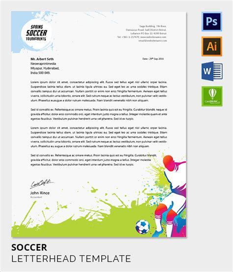 soccer html template sle company letterhead template 37 in psd