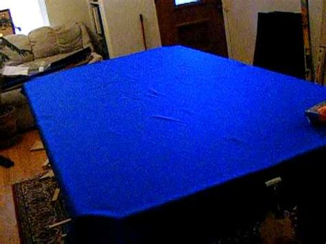 pool table installation part 9 the felt