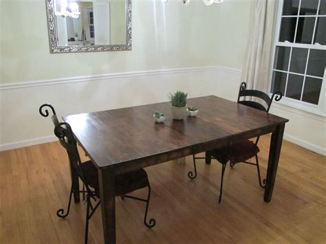 How To Stain A Dining Room Table Colossal Diy Fail Or Rustic Dining Room Table Makeover Thrift Diving