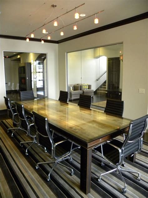 custom steel conference table by ironcraft