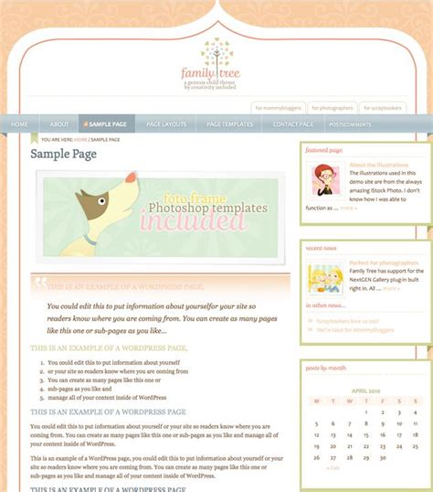 cute themes for wordpress free download cute pink stylish wordpress theme family tree dobeweb